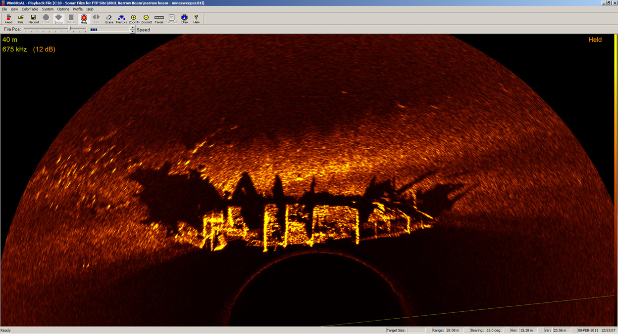881L Narrow Beam image - wreck of Minesweeper