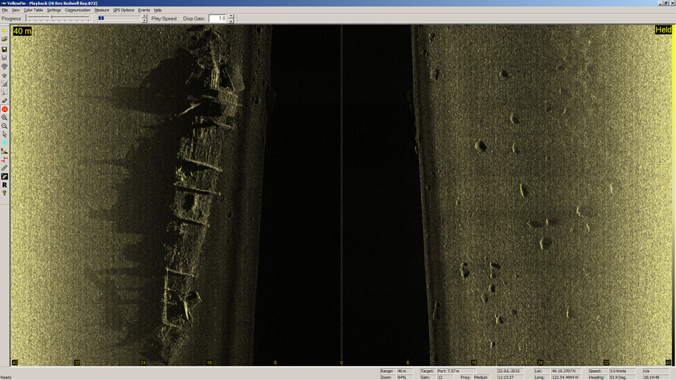 BlackFin image of Minesweeper wreck