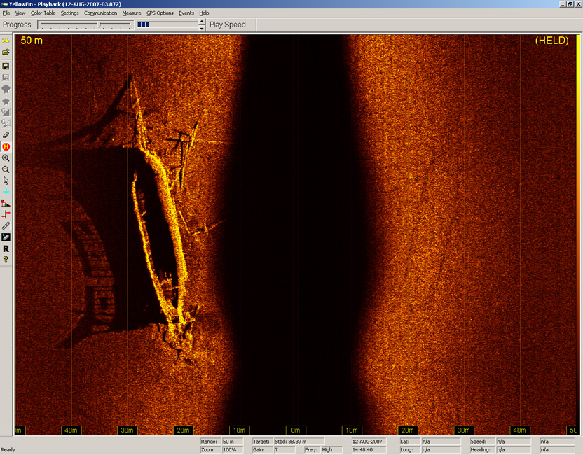 YellowFin image of shipwreck in Lake Ontario, courtesy of Dan Scoville & Jim Kennard